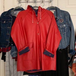 Jackets & Blazers - Red raincoat